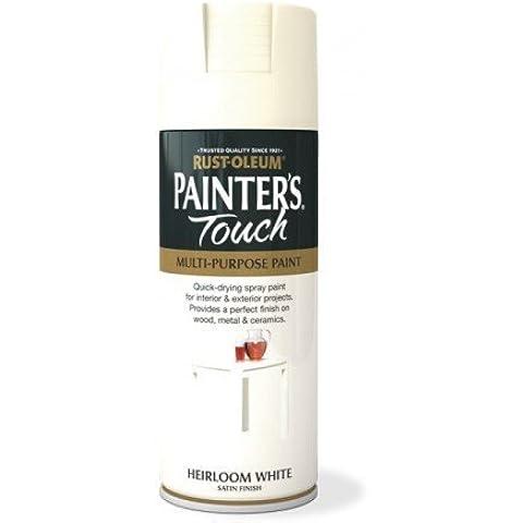 Rust-Oleum Painter's Touch - Vernice spray multiuso, 400ml, colore: bianco antico satinato, Bianco, 2 pezzi