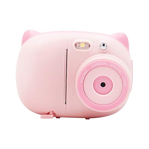 YANGFH Appareil Photo Numérique for Enfants, Appareil Photo Ultra Haute Définition 2,4 Pouces 15 Millions, Imprimante De Notes for Appareil Photo WiFi Polaroid Caméra Kids (Color : Pink)