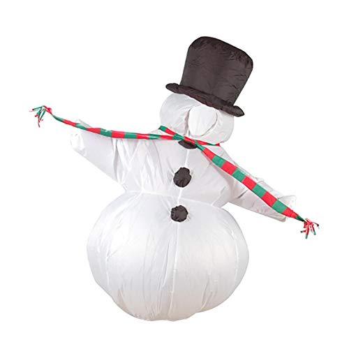 ufblasbarer Schneemann-Form-Anzug Gute Qualität Hoher beleuchteter Weihnachtsmann Kleidung Aufblasbares Kleinkind Kostüm ()
