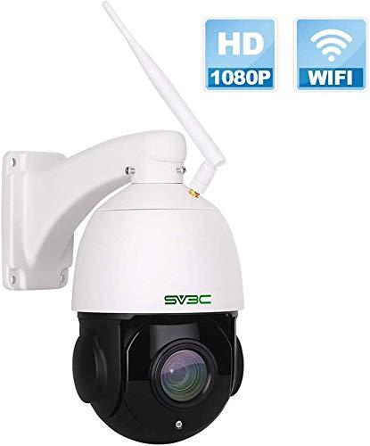 SV3C PTZ Überwachungskamera Aussen, 18x Fach Optischer Zoom WLAN IP Kamera für Außen, 1080P Outdoor Wasserdichter Sicherheitskamera mit Zwei-Wege-Audio, 60m IR-Nachtsicht, Bewegungserkennung