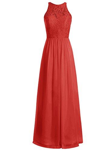 Bbonlinedress Robe de cérémonie Robe de demoiselle d'honneur longueur ras du sol Rouge
