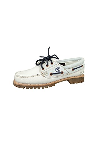 Timberland Chaussures donna barca pizzo CA14E1 Classic Boat Bianco Beige White Mystic