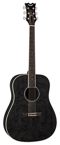 Dean Guitars AX DQA TBK AXS trapuntata, serie Dreadnought-Chitarra acustica, colore: nero cenere