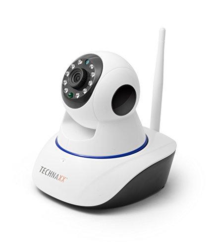 Technaxx 4569 HD 720P TX-23+ Pan/Tilt Indoor IP-Überwachungskamera mit IR-Nachtsicht (Bewegungserkennung, Lautsprecher, Micro SD-Karten-Steckplatz) weiß Tilt Indoor Kamera