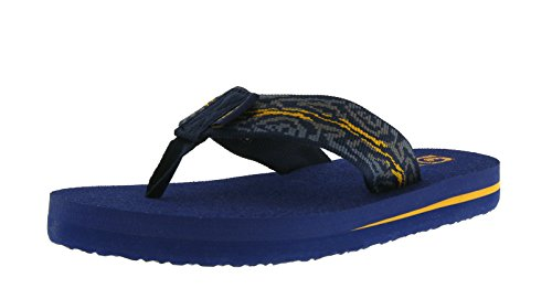 Teva Mush II Y's Unisex-Kinder Sport- & Outdoor Sandalen, Blau (Wood Stripes Blue Mu 968), 33.5