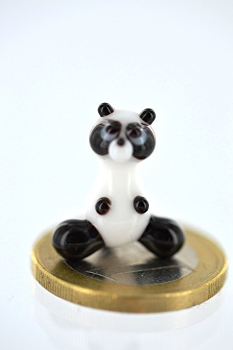 Panda 1Miini-Figura en miniatura de cristal Panda Oso-Decora