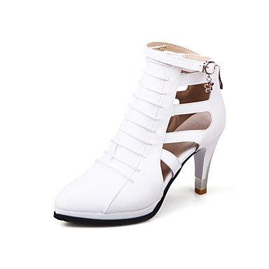 LvYuan Da donna-Sandali-Formale Casual Serata e festa-Altro-Quadrato-PU (Poliuretano)-Nero Rosso Bianco White