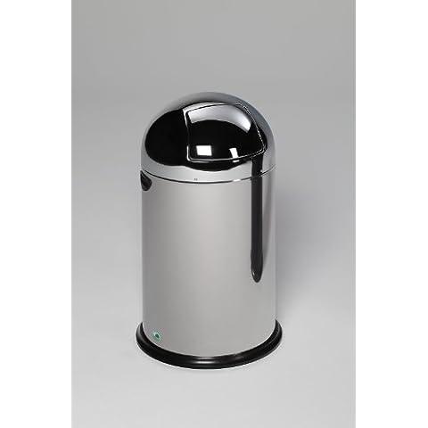 VAR pattumiera 40 litri senza Pedal in acciaio
