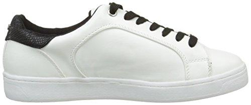 Tom Tailor 9692602, Sneaker Basse Donna Bianco (Blanc (Blanc/Noir))