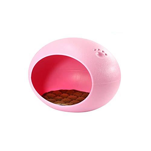 FF Pet Waterloo Oval Ei Form Zwinger Katze Nest Vier Jahreszeiten Hundebedarf (Farbe : Pink)