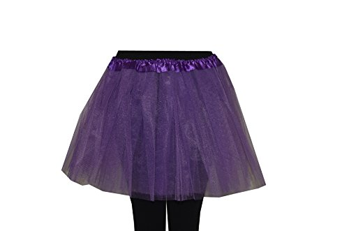 Soleil2012 Tutu Damen Tütü Farbwahl Größe XS bis XXL Tüllrock Ballettrock Petticoat Unterock Rock (XS-XXL+35 cm lang, (Damen Tutu Und Lila Pink)