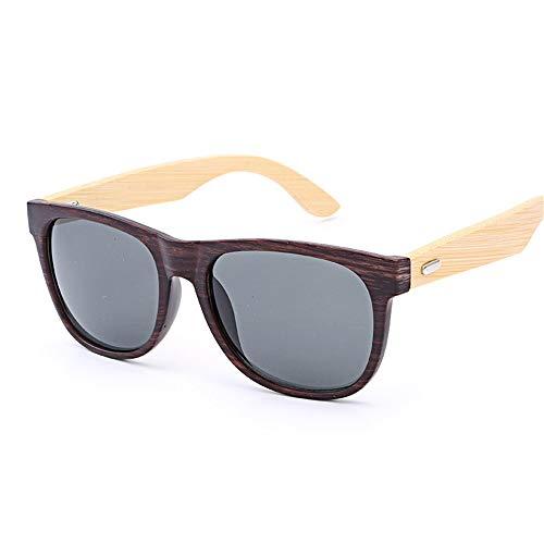 UV400 Bambus Holz Sonnenbrillen/handgefertigte Gläser für Mann und Frau beim Reisen, Outdoor-Sport und Aktivitäten, als Geschenke für Familie und Freunde (Farbe : Coffee+Tea)