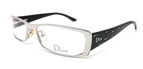 Christian Dior Augenmuschel für Damen CD 3660 / STRASS 84J Silber und Schwarz