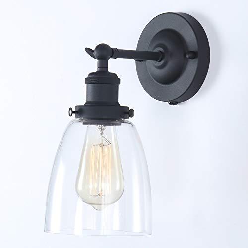 TANGSHI Vintage Industrial Lámparas de Pared Retro Apliques de Vidrio Luces Clásicas Iluminación Vendimia Rústico Para E27 Bombilla Decorativa Hotel Escalera Espejo Dormitorio