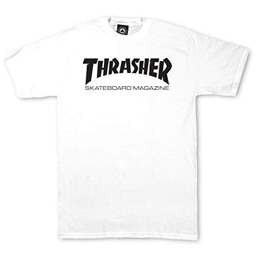 Thrasher t-shirt neonati skate mag bianco (6-12 mesi, bianco)
