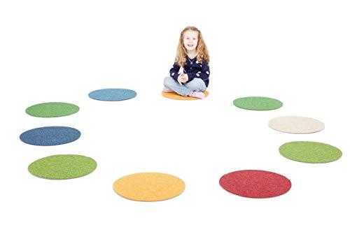 Schurwolle-set (Tretford Runde Sitzpads 10er Set (Farben nach Vorrat) / 80% Kaschmir-Ziegenhaar und 20% Schurwolle / Durchmesser: Ø 40 cm)