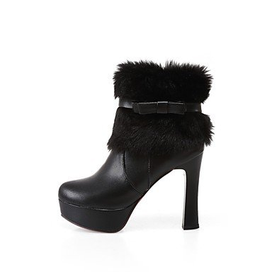 65042bae4da11 Rtry Femmes Chaussures En Cuir Nubuck Similicuir Mode Hiver Bottes Bottes  Chunky Talon Bout Rond Bottines