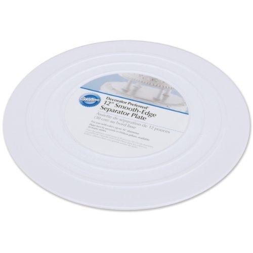 Cake White Säulen (Städter 302-4104 Tortenplatte Rund, Kunststoff, Weiß, 30 x 30 x 2 cm, 1 Einheiten)