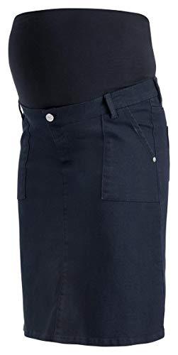 ESPRIT Maternity Damen Skirt Denim OTB mid Umstandsrock (Night Blue (486), 44) -