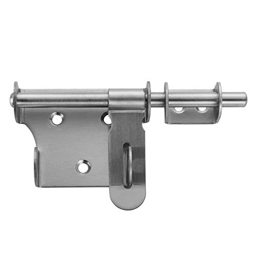 JQK Türriegel, Haarverdichtung Massiv Edelstahl Barrel Bolt mit Lock 15,2cm, Torriegel Innen Gebürstet Finish, dl100-p 6 inch 6-inch