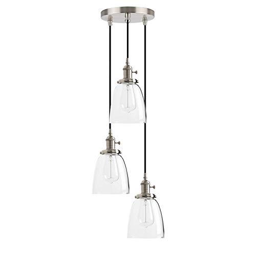 Triple-glühlampen-leuchte (1949shop Industrielle Moderne Vintage Edison Triple Pendelleuchten Retro Lampe Flush Deckenleuchte 3 Lichter hängen Leuchten Kronleuchter für Loft Bar Wohnzimmer Esszimmer Schlafzimmer)