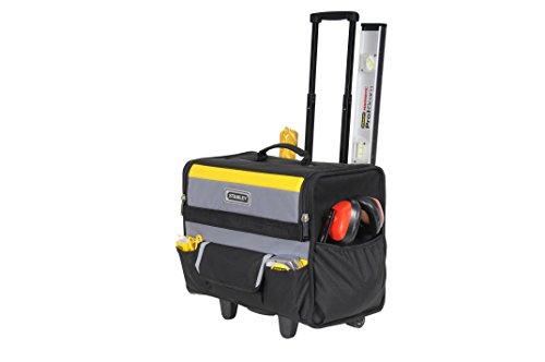 Stanley Werkzeugkoffer / Werkzeugtasche mit Rollen, (44.5x25.5x42cm, wasserfester Kunststoffboden, Trolley aus strapazierfähigem und robustem 600x600 Denier Nylon, viele Verstaumöglichkeiten) 1-97-515 - 2