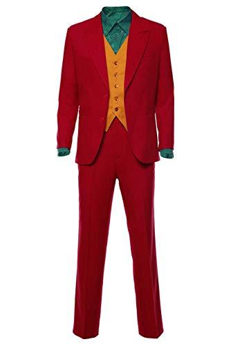 RedJade Clown 2019 Arthur Fleck Joker Anzug Cosplay Kostüm Rot Herren M