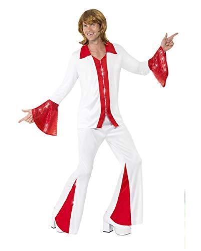 Horror-Shop Super Trooper 70er Jahre Popstar Kostüm für Männer - Super Troopers Kostüm