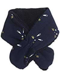 Gespout 1pcs Kawaii Bufandas Cuello puede Desmontar Otoño Invierno Niños Niñas Bebé Pañuelos de Algodón Interior Cálida y Cómoda con Elasticidad(Blanco)