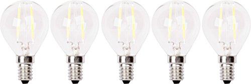 XQ-lite 5-er Pack LED-Filament Glühbirne E14 2 W ersetzt 20 W, 200 lm, warm weiß XQ1405-5