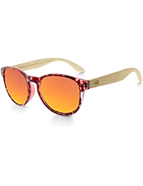 Gafas de madera MOSCA NEGRA modelo MIX OMEGA Leopard X3 Polarized - Wood Sunglasses