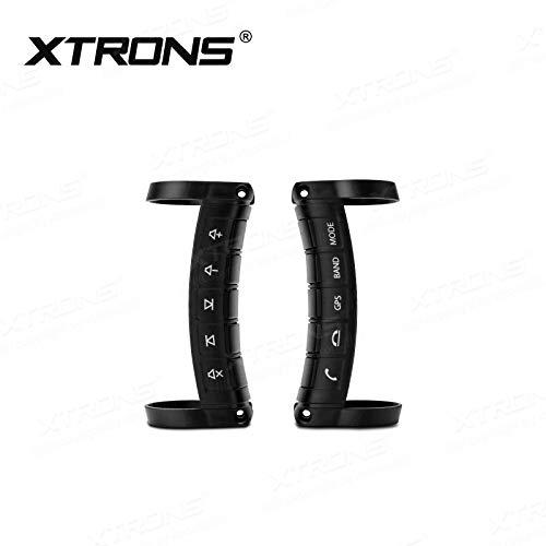 XTRONS Auto Lenkradfernbedienung Controller Universal mit Empfängerbox Kabellose Lenkradsteuer-Taste für Auto DVD GPS Stereo Lenkradtaste