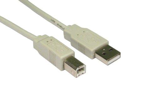 MHP ® USB 2.0 A bis B Drucker Kabel 4,5 m grau