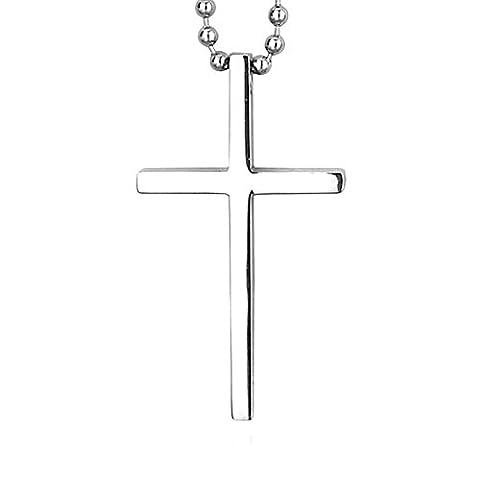 Petite Croix Argent - PiercingJ - Bijoux Collier Pendentif Retro Croix