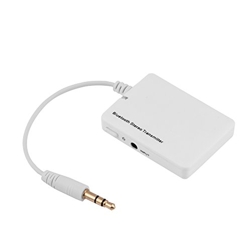 Richer-R Bluetooth Transmitter Stereo Sender, Tragbar Bluetooth wireless Sender,Musik Transmitter mit 3,5 mm Stereo HiFi Kopfhörer A2DP Audio Adapter für TV,PSP, MP3-Player,Computer Weiß (Mp3 Psp)