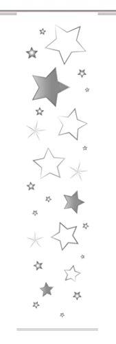 Home Fashion 87905–703Stars riel, plástico, Gris, 245x 60x 0,1cm