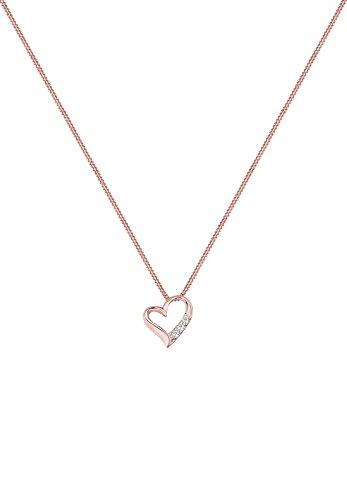 DIAMORE- Colliers- Femmes-Diamant- Blanc- 0.06 ct. Rose