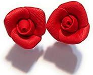 Orecchini roselline rosse