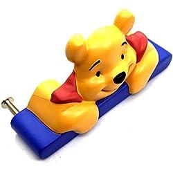 2x Winnie the Pooh Poignées 64mm ou 96mm Poo Ours Chambre d'enfant Placard tirer Poignées