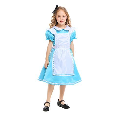 Jeff-chy Mädchen Kostüme Halloween Prinzessin Kleid Leistung Cosplay Show Kostüm Alice Im Wunderland Maid Kostüm (Alice Im Wunderland Kostüm Für Kleine Mädchen)