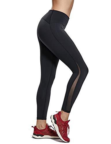 75c71fb32735 CRZ YOGA Donna Vita Alta Yoga Fitness Pantaloni Sportivi 7/8 Leggings con  Tasche -