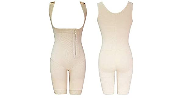 3835d812b8a Uniqus CR Plus Size 5XL Hot Latex Women s Body Shaper Post Liposuction  Girdle Clip Zip Bodysuit Vest Waist Shaper Reductoras Shapewear Color D013  Beige Size ...