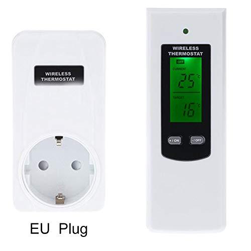 MAyouth TemperaturfHler Regler Funk-Thermostat Hf-Stecker Digitale Infrarot-Heizung FR Heim, Innen, Schlafzimmer