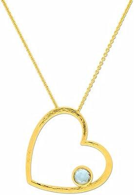 Bijoux pour tous - Colgante de bañado en oro con oxido de circonio
