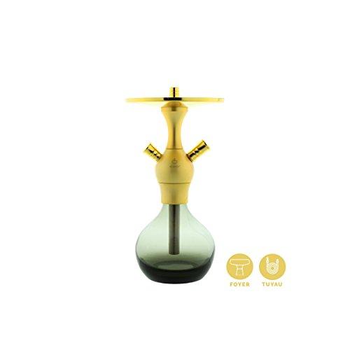 Cachimba Shishas Fumar Modelo El Badia C1 SandBlasted Gold. Narguile Shishas Oro