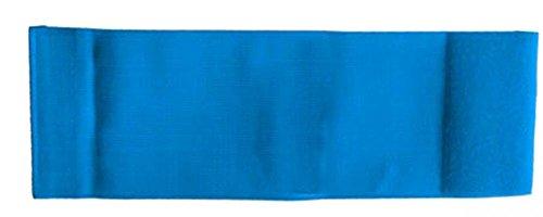 größenverstellbare Armbinde/Mediaband bedruckt mit IHREM INDIVIDUELLEM TEXT SENIOR 25-36 cm) (Farbe blau)