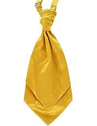 Golden Yellow Mens Pre-Tied Wedding Fashion Cravat *UK Seller*