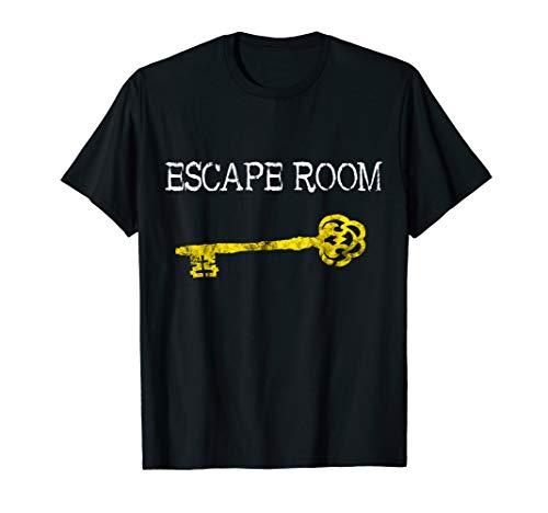 Escape Room Zimmer Schlüssel Exit Room Adventure Games Team T-Shirt