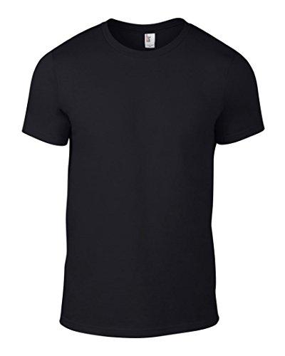 Anvil Herren T-Shirt Schwarz - Schwarz