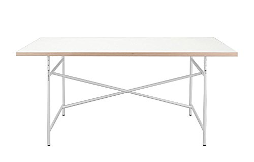 Preisvergleich Produktbild Set Kinderschreibtisch Eiermann 120 x 70 cm + Stuhl Turtle + Container FIXX inkl. Stifteschale - Schreibtisch Tischplatte weiß und Gestell weiß + Drehstuhl Turtle weiß + Container FIXX- Richard Lampert Möbel